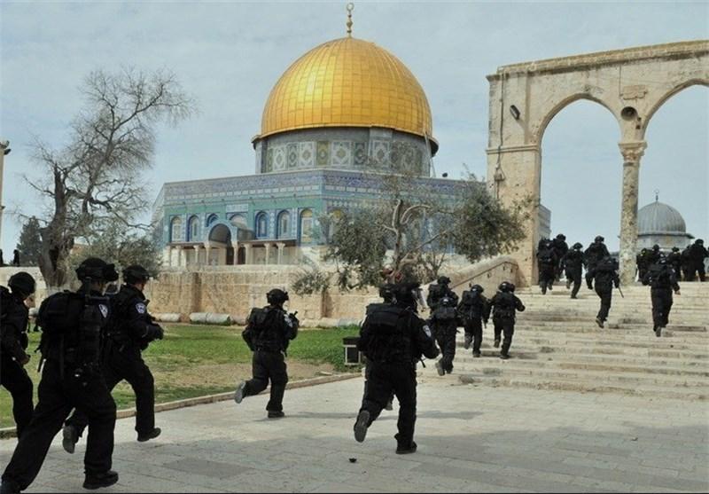 درگیری نظامیان صهیونیست با جوانان فلسطینی