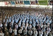 آخرین نماز ماه صفر با حضور عزاداران رضوی اقامه شد