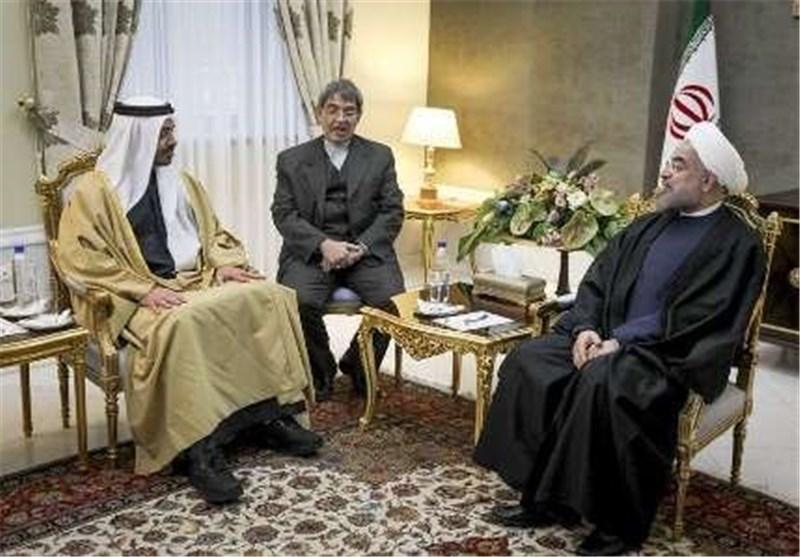 روحاني يستقبل وزير الامارات