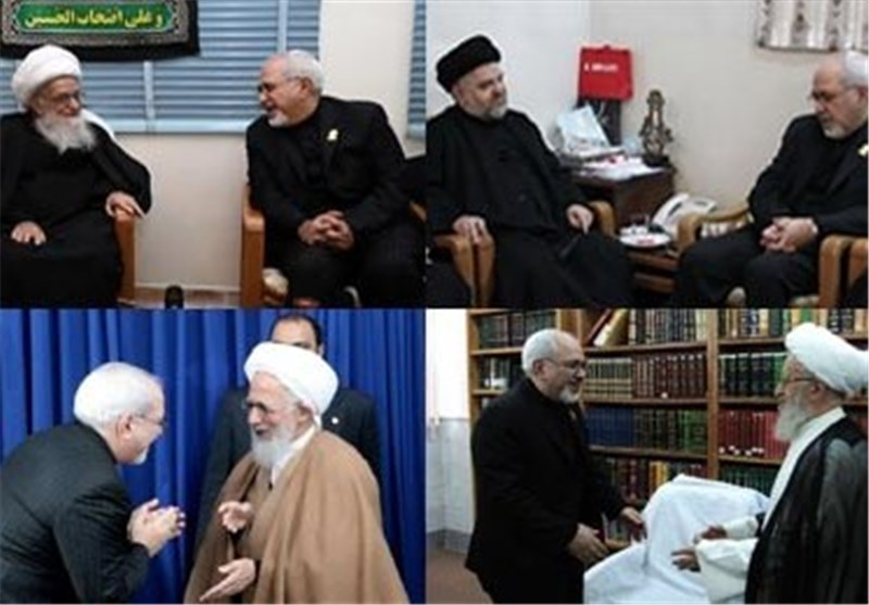 Iran's Top Diplomat Confers with Senior Clerics