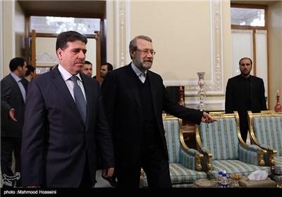 لاریجانی یستقبل رئیس الوزراء السوری