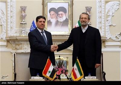 الدکتور لاریجانی یستقبل رئیس الوزراء السوری