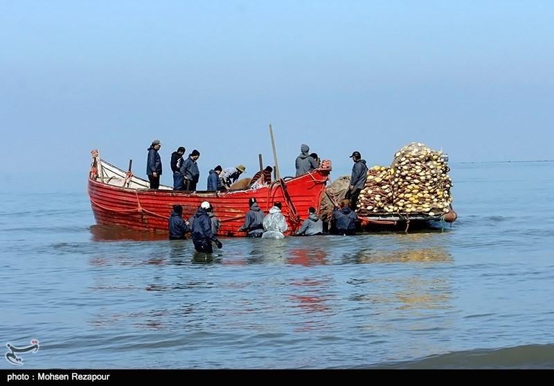 صید ماهی در سواحل خزر