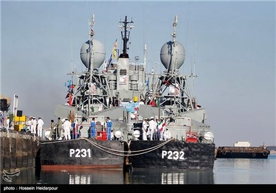 Photos: Iranian Navy Launches New Missile Frigates, Logistics Warship
