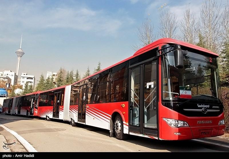 مراسم ورود و آغاز به کار 139 اتوبوس دو کابینه به ناوگان اتوبوسرانی تهران