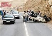 برخورد زنجیرهای خودروها در کمربندی قم