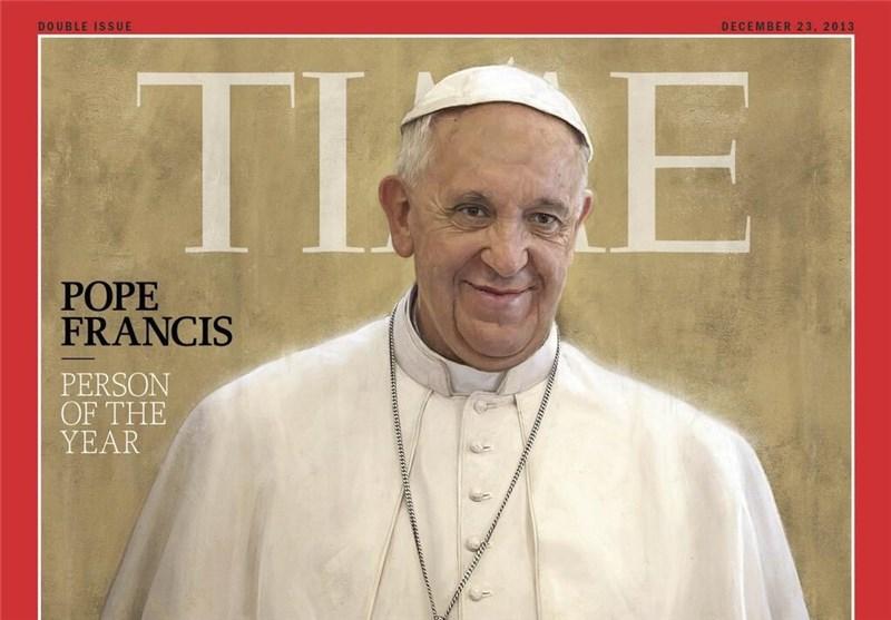 پاپ فرانسیس مرد سال تایم شد