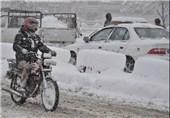 بارش برف کشاورزان اردستانی را خوشحال کرد