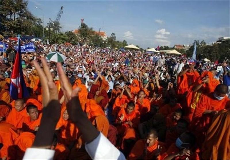 بازداشت 5 فعال سیاسی در ادامه سرکوب معترضان در کامبوج