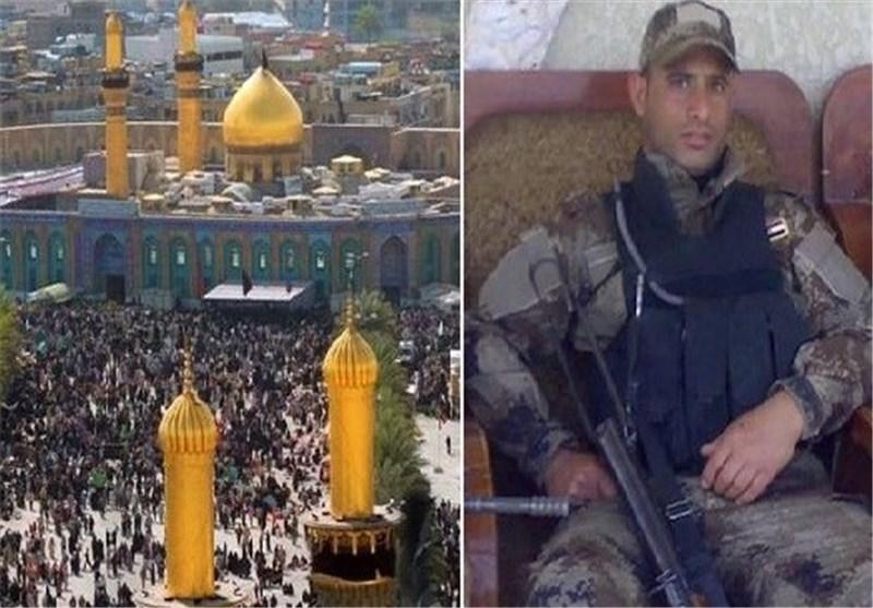 شرطی عراقی یحتضن ارهابی هاجم زوار الامام الحسین (ع)