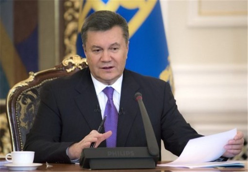 یانوکوفیتش: أوکرانیا قادرة على حل مشاکلها الداخلیة بنفسها دون أی تدخل خارجی