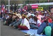 ادامه راهپیمایی اعتراض آمیز مردم تایلند برای سرنگونی دولت