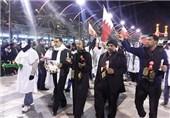 راهپیمایی خانواده شهدای بحرین در کربلا