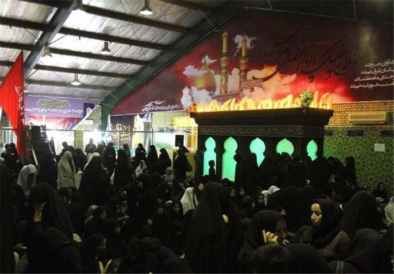 پرچم متبرک امام رضا(ع) در بوشهر به اهتزاز درآمد