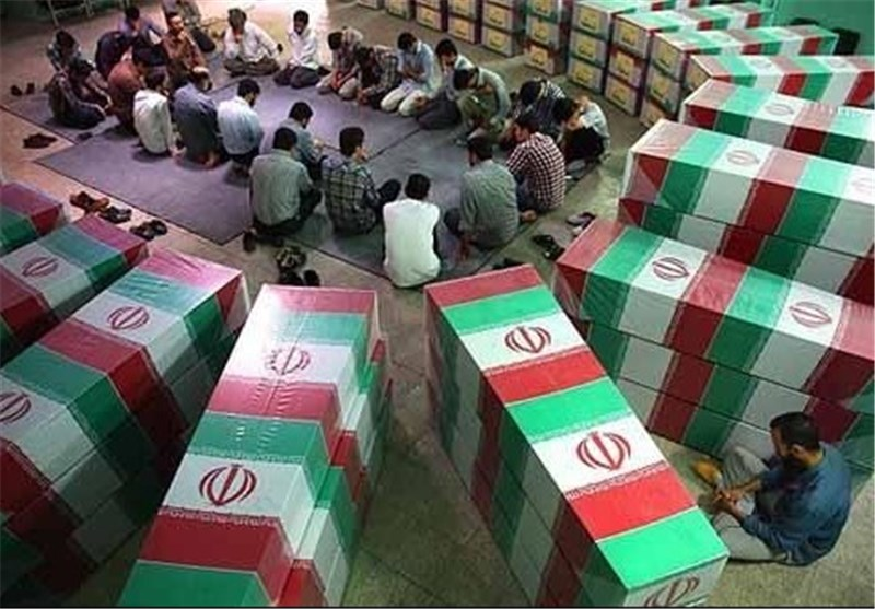 تشییع و خاکسپاری دو شهید گمنام در شهرک مهدیه قم