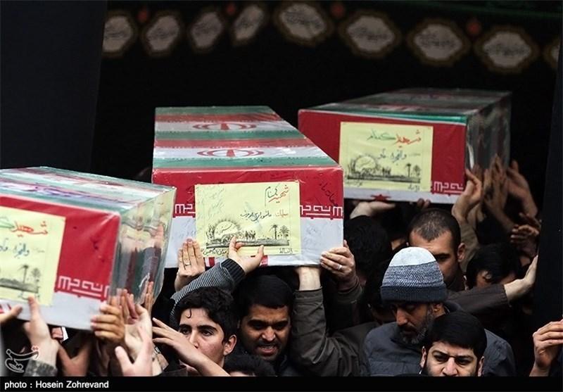 تشییع و تدفین 3 شهید گمنام دفاع مقدس در گچساران