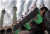 مراسم تشییع نمادین پیکر امام حسن(ع) برگزار شد