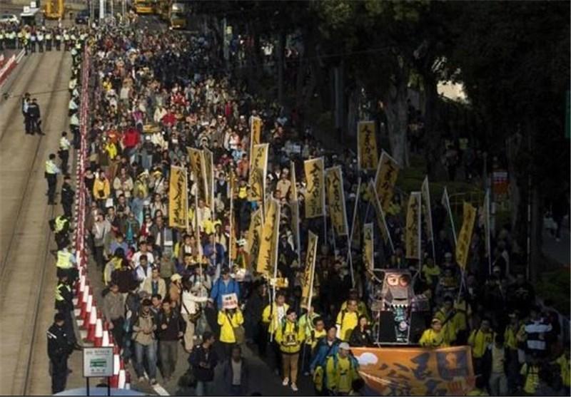 تظاهرات مردم هنگکنگ در اعتراض به سیاستهای مداخلهجویانه چین