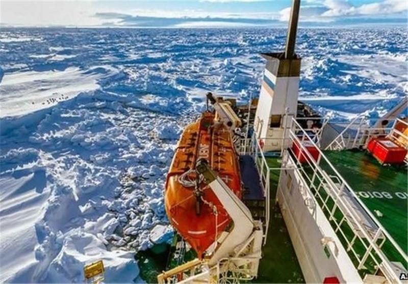 از سرگیری عملیات نجات کشتی روس در قطب جنوب