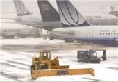 7 پرواز به دلیل بارش برف در فرودگاه اصفهان لغو شد