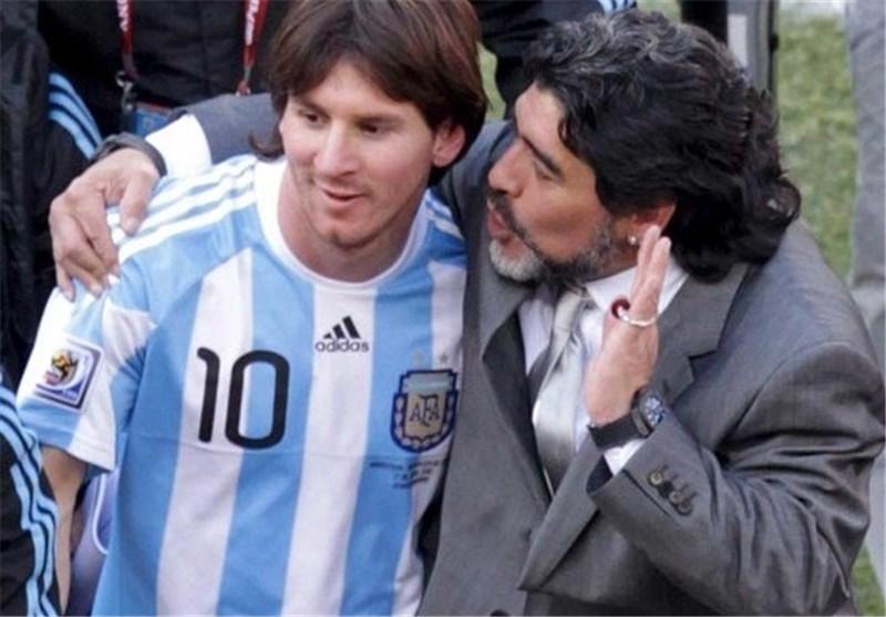 مارادونا: اگر آرژانتین قهرمان جام جهانی نشد مسی را مقصر ندانید