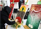 کارگاه آموزشی نقاشی عاشورا در نگارخانه شاهرخی کرمان برگزار شد
