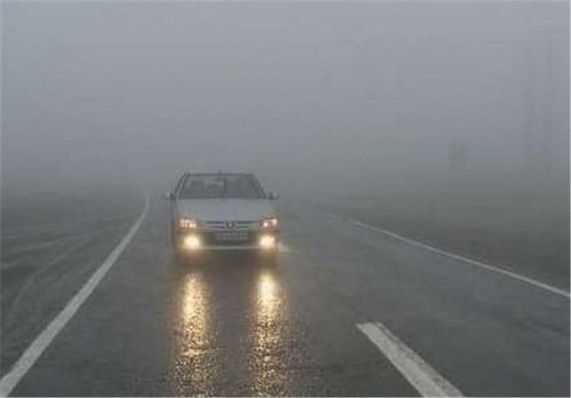مه گرفتگی در برخی محورهای خراسان رضوی