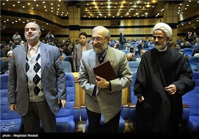 محمد جواد لاریجانی اولین رئیس مرکز پژوهشهای مجلس در همایش نقش پژوهش در قانونگذاری