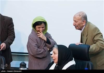 مرتضی احمدی ، شمسی فضل الهی و لیلی رشیدی بازیگر در دیدار با رئیس شورای شهر تهران