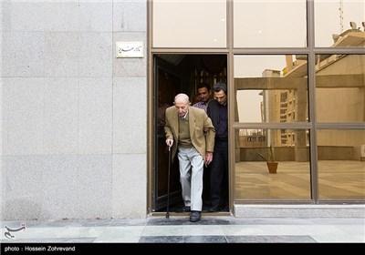 مرتضی احمدی ، بازیگر در پایان مراسم