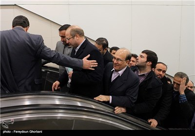محمدباقر قالیباف شهردار تهران در پایان مراسم افتتاح زیرگذر عابر پیاده چهارراه ولیعصر(عج)