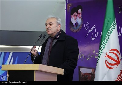سخنرانی ایرج راد در مراسم افتتاح زیرگذر عابر پیاده چهارراه ولیعصر(عج)