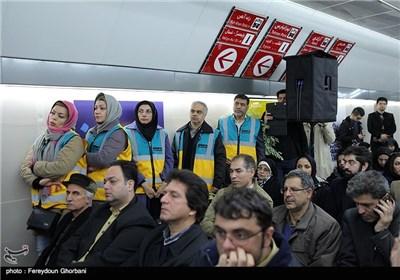 مراسم افتتاح زیرگذر عابر پیاده چهارراه ولیعصر(عج)