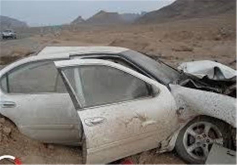 تصادف زنجیرهای در اتوبان 22 بهمن زنجان