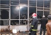 آتش سوزی در انبار نساجی فردوس خسارت مالی به بار آورد