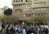 تظاهرات مصریها در مقابل سفارت قطر