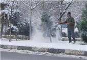 کاهش بیسابقه دما در گلپایگان/ ارتفاع برف به 4 سانتیمتر رسید