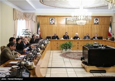 جلسه هیئت دولت به ریاست حجت الاسلام حسن روحانی رئیس جمهور