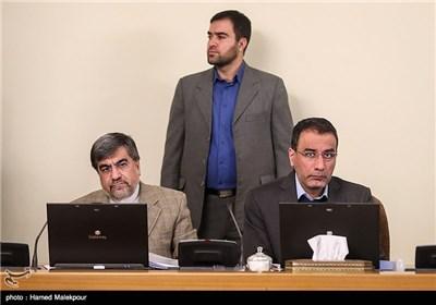 رضا فرجی دانا وزیر علوم و علی جنتی وزیر ارشاد در جلسه هیئت دولت