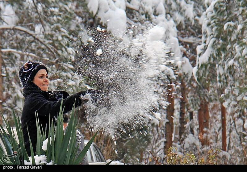 گزارش تصويري بارش برف در كرمان