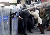 تظاهرات کردهای ترکیه به خشونت کشیده شد