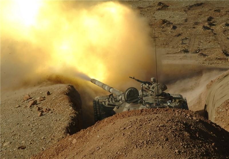 """عملیات مشترک تانکهای T-72 و """"نفربرهای براق"""" سپاه علیه دشمن فرضی"""