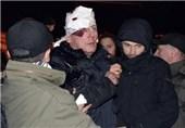 تظاهرات مخالفان اوکراینی در اعتراض به ضرب و شتم وزیر سابق