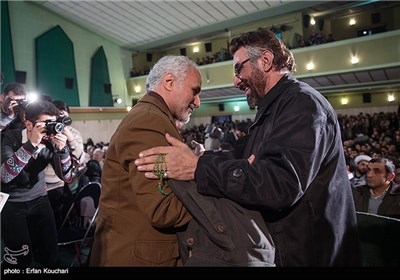 فرج الله سلحشور و حسن عباسی در مراسم اختتامیه چهارمین جشنواره فیلم عمار