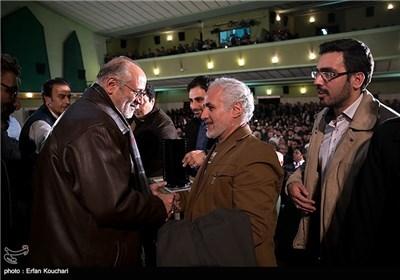حسن عباسی و جمال شورجه در مراسم اختتامیه چهارمین جشنواره فیلم عمار