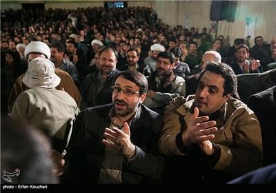 هاشم میرزاخانی و محمدرضا عباسیان در مراسم اختتامیه چهارمین جشنواره فیلم عمار