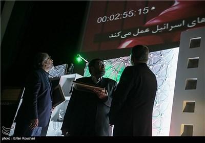 نادر طالب زاده و فواد ایزدی در اختتامیه چهارمین جشنواره فیلم عمار