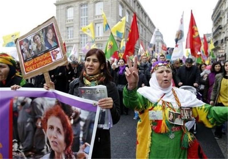 تظاهرات کردهای ترکیه در شهر پاریس