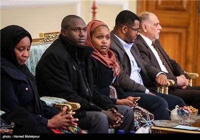 دیدار رئیس مجلس سنای کنیا و هیئت همراه با علی لاریجانی رئیس مجلس شورای اسلامی