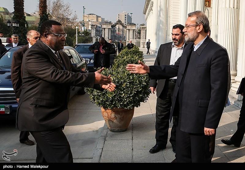 دیدار اکوا ایتورو رئیس مجلس سنای کنیا با علی لاریجانی رئیس مجلس شورای اسلامی